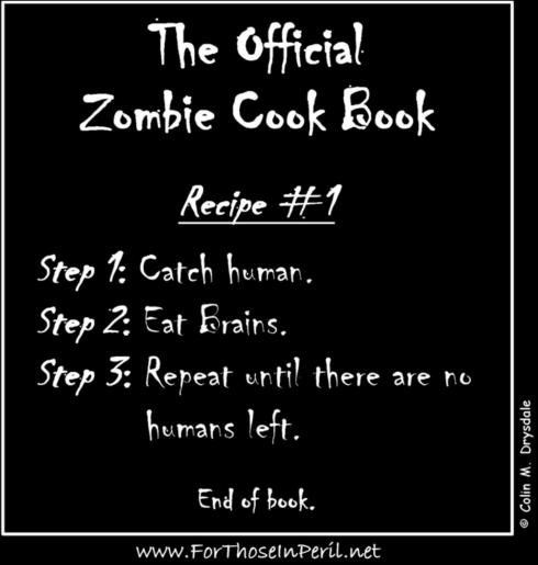 The Official Zombie Cook Book T-Shirt Design